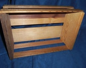 Cute Medium Sizel Slatted Box for Display, Decor, or Storage by Napa Valley Box Company