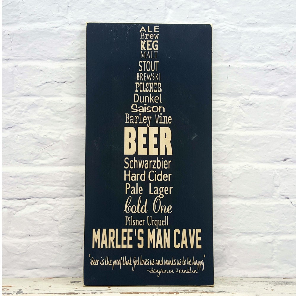 Man Cave Canvas Signs : Personalized man cave sign on canvas or wood by madikaydesigns