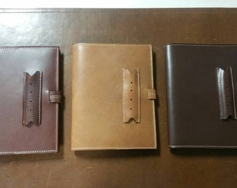 Leather Journal Cover w/penholder