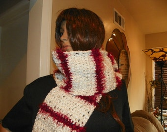 Christmas Scarf  Very Soft and Thick Scarf   Neck Warmer Ready to Ship