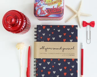 Planner - Weekly Planner - Monthly Planner - 2017 Planner - College Planner : AYR Flutter Hearts