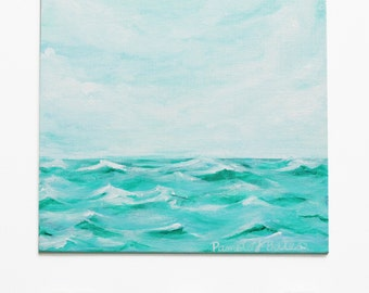 Abstract Painting Ocean Seascape Wave OOAK Art