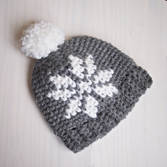 Crochet pattern Nordic snowflake knit look hat women Sweedish