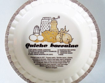 Ceramic Pie Plate Quiche Baking Dish Royal China By Jeanette Microwave Safe & Oven Proof