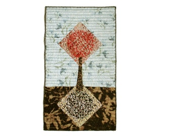Embroidered tree fiber art for tree lovers