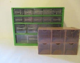 Parts Cabinet Hardware Craft Supply Parts Boxes Bin Tool Organizer Storage