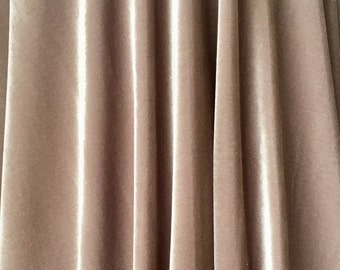 4-Way Stretch Velvet Fabric - Stone