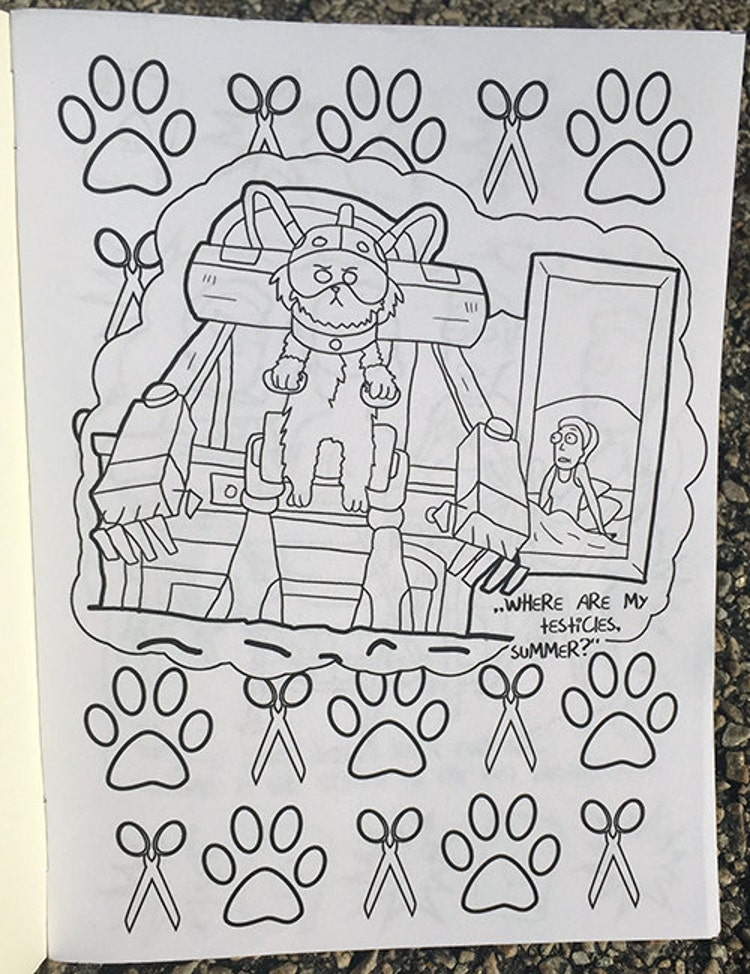 Rick And Morty Coloring Book By Sweetgeek On Etsy
