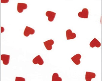 Red Hearts  Retro Flowers 10 Sheets . Red  DIY Wedding Decor | Gift Wrap . Craft Supplies | DIY Pom Pom Supplies