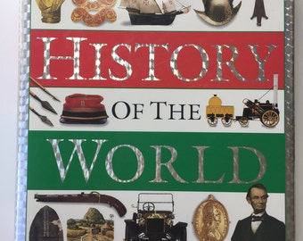 Vintage  History  Book, Vintage Books, Vintage Items, First Edition Book, The Dorling Kindersley History of the World