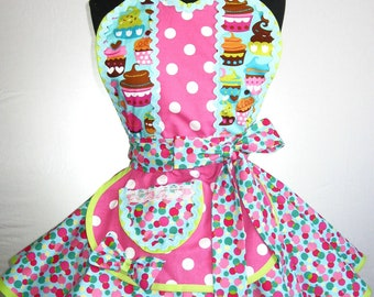Colorful Cupcake Apron