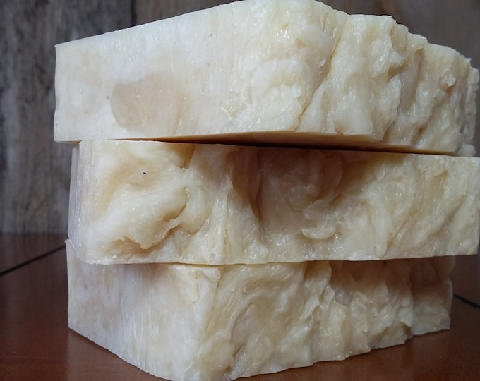 "Goat Milk ""Back to Basics"" Soap -- All Natural Soap, Handmade Soap, Unscented Soap, Hot Process Soap, Vegetarian Soap, Goat Milk Soap"