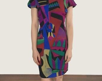 1994 Gianni Versace printed dress size 38IT