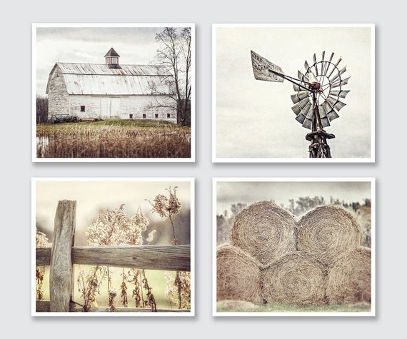 Country Wall Decor Images : Farmhouse decor country rustic wall art barn