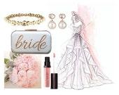 wedding clutch bride clutch glitter bride glitter wedding accessories gold clutch personalized bride bridal shower gift