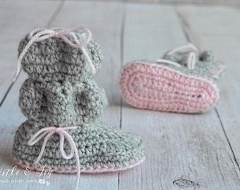 Baby Bubble Boots Crochet Pattern PDF DOWNLOAD