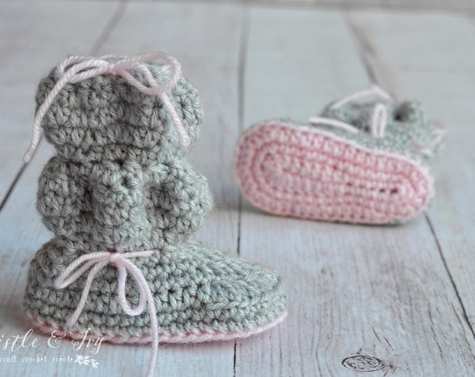Baby Bubble Boots Crochet Pattern PDF DOWNLOAD