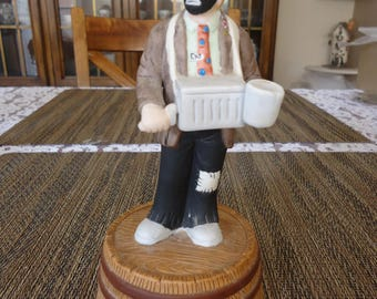 Vintage 1984 Everett Kelly Jr. Hurdy Gurdy Man Collectible Musical Figurine by Flambro