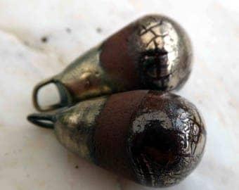 Red Keuper Bronzy Droplets Platinum Lustre