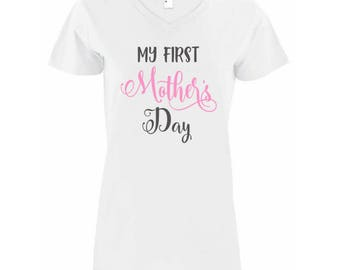My First Mother's Day Women V-Neck Shirt