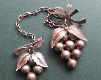 On Sale Vintage Denmark 830 Silver Grapes Scatter Pins  Sweater Brooch By John L Lauritzen