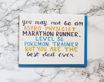 Funny Father's Day Card. Card for Dad.