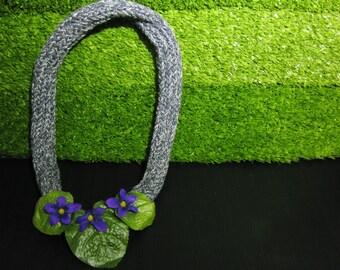 African violets big necklace