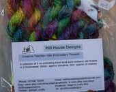 Hand-dyed 100%silk embroidery threads