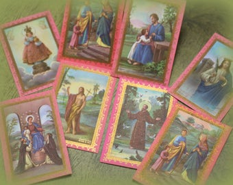 3 Vintage Religious Cards from Italy