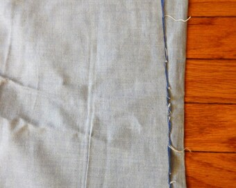 44 inch wide Pale Blue Oxford Cloth Oxford Chambray Shirting Yardage 6+ Yds BTY