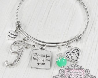 Physical Therapy Gifts, Thank you gift, PT or OT Gifts, Physical Therapists Charm Bangle Bracelet, Occupational Therapist, Therapist Gift,