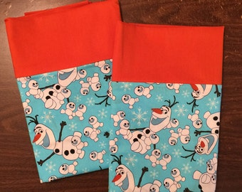 Frozen Pillow Case set with Olaf and Buddies100% cotton standard/queen #3