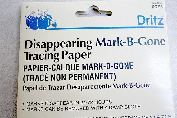 New Sealed Vintage Dritz Tracing Paper Disappearing Mark