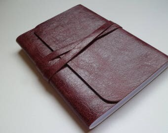 Travel Journal Leather Journal Leather Notebook Leather Book. Burgundy Leather with a Faded Antique Finish.