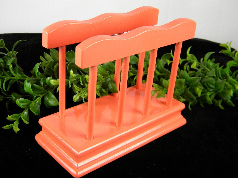 Napkin holder coral wood beach cottage decor kitchen - Coastal napkin holder ...