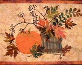 Quilt Pattern, Table Runner Pattern, Fall Quilt Pattern, Wall Hanging, Applique Pattern, Edyta Sitar Quilts, Autumn Quilt, PATTERN ONLY
