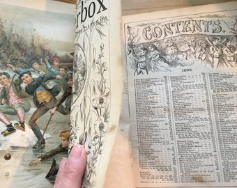 Antique 1892 Chatterbox Book great for the graphics