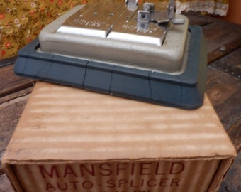 """VINTAGE - Mansfield """"Auto-Splicer"""" for 8mm & 16mm for Silent or Sound Film, collectable"""