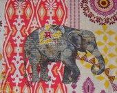 Elephant Fabric, Elephant Caravan, Abstract Elephants, Timeless Treasures, By the Yard, Cotton Fabric, African Style,  Safari Fabric