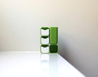 Mod Green Desk Organizer Caddy 70's Mid Century Modern