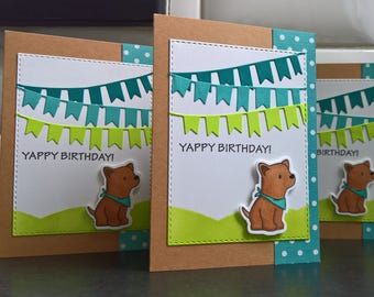 Dog Birthday Card, Dog Greeting Card,  Dog Lover Gift, Happy Birthday Card, Have a Yappy Birthday, Birthday Banner Card