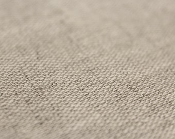 Natural rough linen fabric by the yard