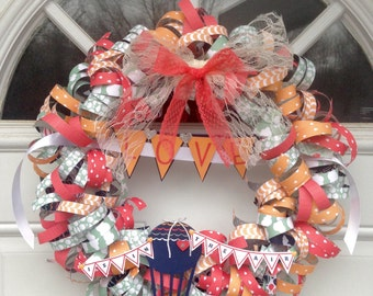 Love is in the Air Paper Wreath