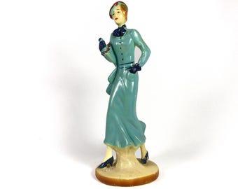 Figurine Female Art Deco Woman Fashion American Statue 1930s Rare Original Art