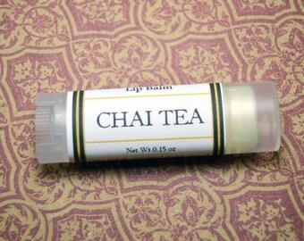 Chai Tea Lip Balm - Handmade Lip Balm - Cinnamon, Clove, Cardamom and Tea