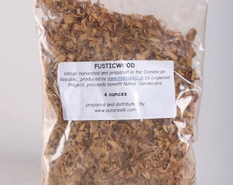 4oz Natural FUSTICWOOD shavings Fabric dye from Aurora Silks, Yellows and Oranges