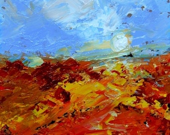 Solitude In Place -   Plein Air Landscape Painting - Original Oil Painting Unique Abstract Impressionism - Claire McElveen Available Framed