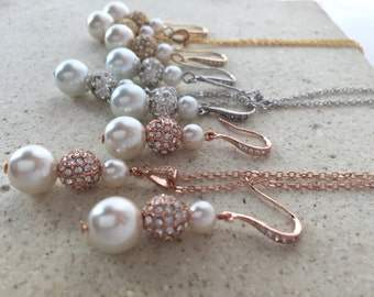mother of the bride or mother of the groom jewelry in gold/silver/or rose gold. mothers jewelry sets, wedding jewelry, rose gold jewelry