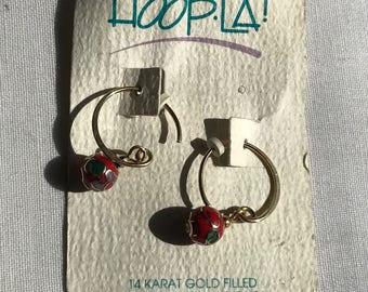14 K Gold Filled Hoop Earrings