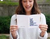 Kentucky Basketball Gift Idea for Him, I Love You More Than Kentucky Loves Basketball Card, Free U.S. Shipping